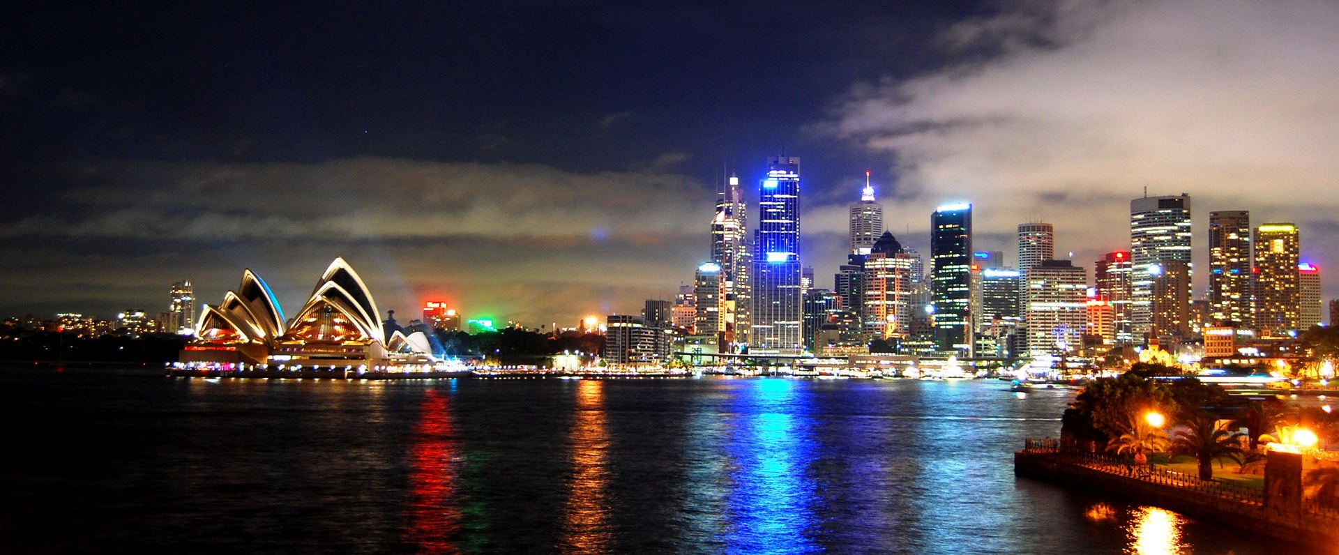 Sydney-harbour-bei-nacht-wallpaper